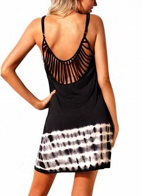Womens Summer Cover Ups Strappy Back Tie Dye Sexy Open Back Bikini Cover Swimwear_4
