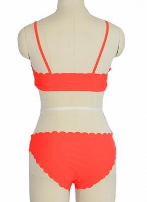 Solid Color Push-Up Padded Top Bottom Bikini Set_4