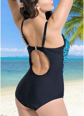 Modern Women Large Size One-Piece Swimwear Push Up Padding Wireless Swimsuit_5