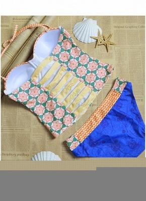 Hot Womens Bikini Set Floral Geometric Print Underwire Push Up Swimsuit_5