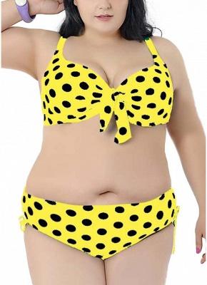 Plus Size Polka Dot Knot Bikini Set_2
