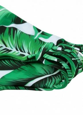 Tropical Leaves Print Bodycon Padded Bikini UK_8