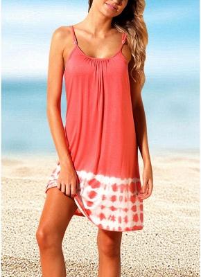 Womens Summer Cover Ups Strappy Back Tie Dye Sexy Open Back Bikini Cover Swimwear_1