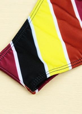 Contrast Stripe Underwire Padded Cup Tie Bikini Set UK Bathing Suit UK_14