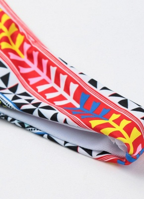 Push Up Padded Geometry Print Cross Halter Bikini Set UK_9