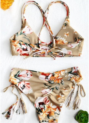 Women Tank Tops Floral Bathing Suit UK Tassel Bikini Set UK Bathing Swimsuits UK_3