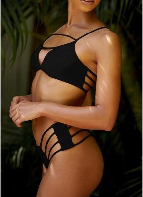 Women Bikini Set UK Strappy Bodycon Push Up Wireless Bathing Suit UK Beach Wear_2