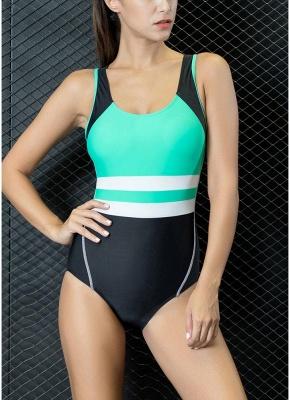 Women One-piece Bathing Suit UK Contrast Color Padded Monokini Swimsuits UK Bathing Suit UK_3