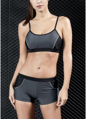 Sports Splicing Professional Racing Tank top Swimsuit_3