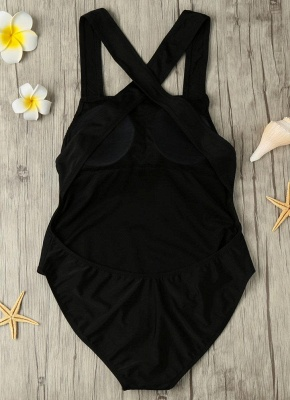 Sexy Backless Cross Strap Padded One Piece Swimsuits UK_5
