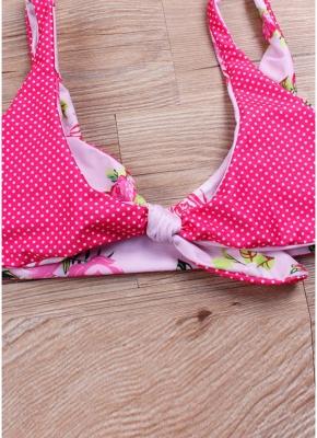 Women Bikini Set UK Floral Polka dots Print Bathing Suit UK Beach Wear Tank Top_3