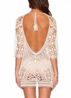 Crochet Lace Floral Bohemia Women Hot Bikini UK Cover Up_1