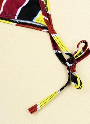 Contrast Stripe Underwire Padded Cup Tie Bikini Set UK Bathing Suit UK_15