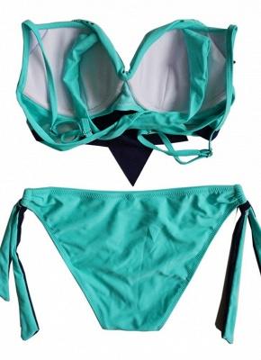 Womens Bikini Tank top Set Ruffle Overlay Self Tie Padded Push Up Swimsuit_5