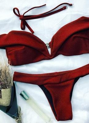 Womens Tank top Bikini Set Solid Hot Brazilian Swimsuit?_5