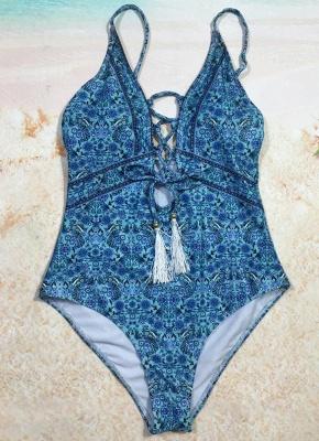 Women One Piece Bathing Suit UK Swimsuits UK Deep V-Neck Lace Up Bathing Suit UK Sexy Backless Printed Beachwear Monokini_4