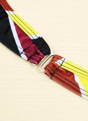 Contrast Stripe Underwire Padded Cup Tie Bikini Set UK Bathing Suit UK_17