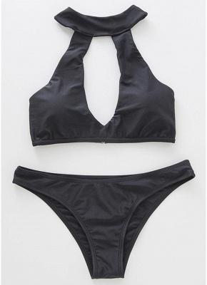 Women Halter Bikini Set UK Cut Out Bathing Suit UK_3