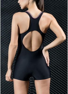 Women Sports One Piece Bathing Suit UK Swimsuits UK Shorts Splice Racing Training Bathing Suit UK_4