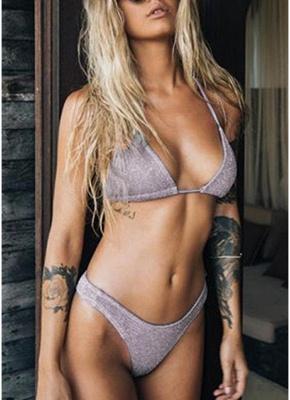 Hot Women Glitter Halter Bikini Set UK Bling Sequined Biquini Swimsuits UK Bathing Suit UK_3