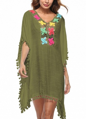 Crochet Lace Hollow Out Bohemian Loose Beach Wear Cover-up_6