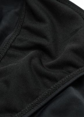 Hot Halter Cross Design Strappy Plunge Bodycon Black One Piece Bathing Suit UKs_9