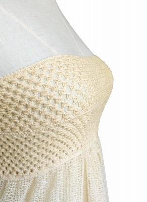 Hot Women Crochet Hollow out Meshy Beachwear Bohemian Bikini UK_7