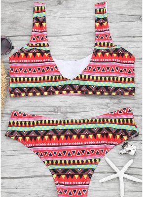 Womens Color Block Bikini Set Push Up Padded Swimsuit Bathing Suit Swimsuit_4