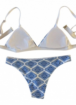 Geometric Print Wireless Swimsuits UK Bikini Set UK_5