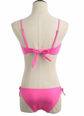 Hot Gradient Rainbow Print Underwire 3/4 Cup Women's Bikini UK_4