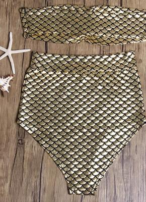 Strapless Metallic High Waist Bikini_6