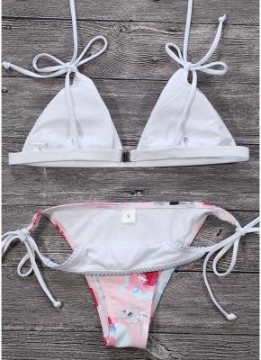 Hot Women Bikini Set UK Floral Striped Splice Strappy Wireless Bathing Suit UK Bathing Suit UKs Tank Top Beach Wear_3
