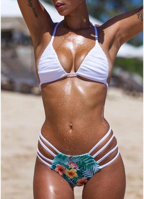 Floral Halter Bodycon Bikini Set UK_1