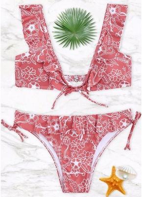 Women Bikini Set UK Ruffled Floral Bodycon Swimsuits UK Bathing Suit UK Bathing Suit UK_1