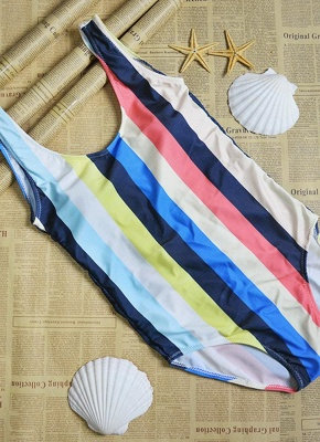 Women Striped Bathing Suit UK Sexy Backless High Cut Swimsuits UK Beach Playsuit_4