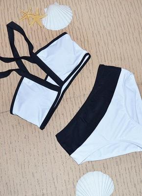 Hot Women Bikini Set UK Color Splice Wireless Bathing Suit UK Bathing Suit UKs Tank Top_3