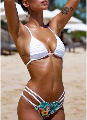 Floral Halter Bodycon Bikini Set UK_3