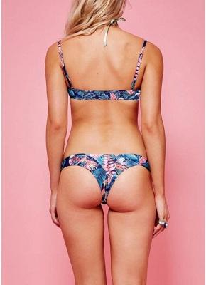 Hot Women Bikini Set UK Floral Bodycon High Cut Low Waist Padded Tank Top Bathing Suit UK Swimsuits UK_2