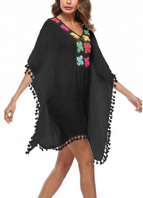 Crochet Lace Hollow Out Bohemian Loose Beach Wear Cover-up_8