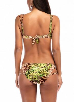 Modern Women Bikini Set Leopard Print Padded Top Bottom Beach Swimwear Swimsuit Bathing Suit_3