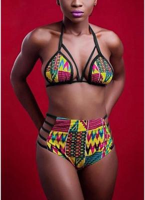 Womens Bikini Set Printed Bathing Suit Swimsuit Padded Tank top Swimsuit Swimwear_1