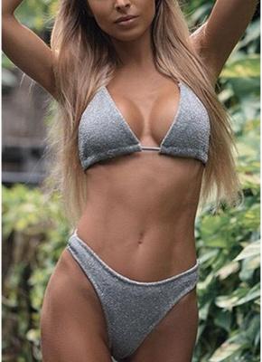 Hot Women Glitter Halter Bikini Set UK Bling Sequined Biquini Swimsuits UK Bathing Suit UK_4