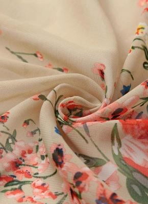 Retro Floral Lace Hem Bohemian Chiffon Kimono_10