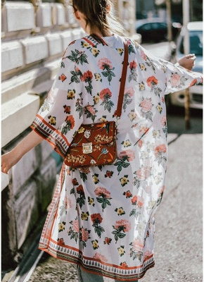 Womens Chiffon Kimono Cardigan Bikini Cover Ups Printed Boho Long Swimwear_3