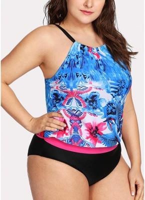 Modern Women Padded Plus Size Swimsuit Push Up Printed Swimwear Bathing Suit_4