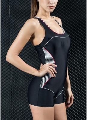 Women Sports One Piece Bathing Suit UK Swimsuits UK Shorts Splice Racing Training Bathing Suit UK_5