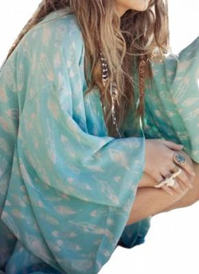 Women Kimono Beach Cover Up Outerwear_3