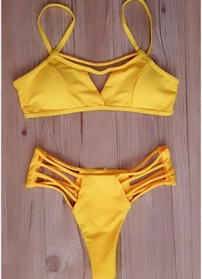 Women Bikini Set UK Strappy Bodycon Push Up Wireless Bathing Suit UK Beach Wear_4