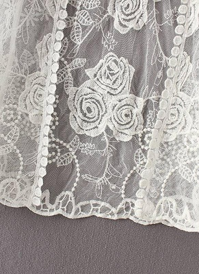 Women Retro Lace Crochet Beach Cardigan_8
