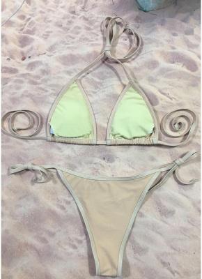 Womens Bikini Set Sequined Stars Tied Waist Padded Tank tops Swimsuit Bathing Suit_5